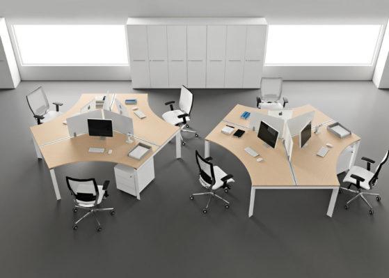 Aranżacja 6 - Wynajem mebli biurowych